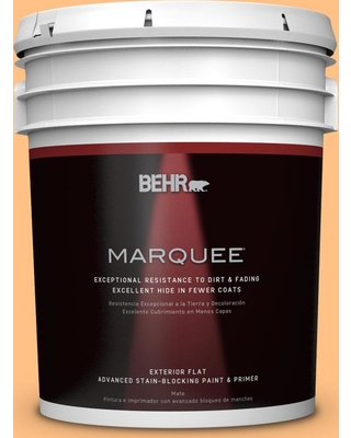 BEHR MARQUEE 5 gal. #PMD-68 Amber Sun Flat Exterior Paint and Primer in One