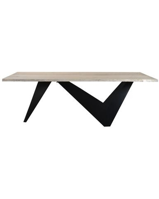 Bird Collection VE-1068-24 Dining Table with Iron Base in Natural