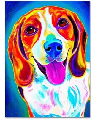 """Trademark Art """"Lucy"""" by DawgArt Painting Print on Wrapped Canvas ALI0572-C Size: 24"""" H x 18"""" W x 2"""" D"""