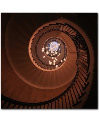 "Trademark Art 'The Brewer Staircase' Photographic Print on Wrapped Canvas 1X03797-C Size: 35"" H x 35"" W"