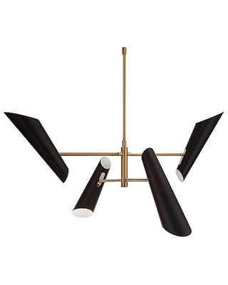 Franca Chandelier by Visual Comfort - Color: White - Finish: Hand Rubbed Antique Brass - (ARN 5411HAB-WHT)