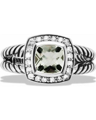 ccaab0ab5c337 Petite Albion Ring With Prasiolite & Diamonds - Metallic - David Yurman  Rings