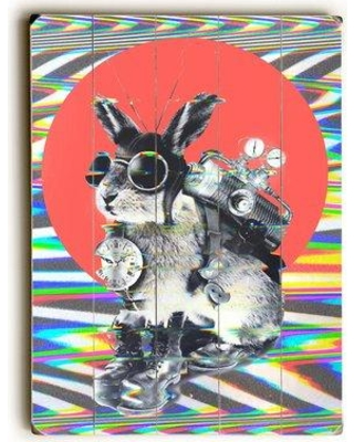 """East Urban Home 'Time Travellers' Graphic Art Print on Wood URBR7301 Size: 16"""" H x 12"""" W Format: Planked Wood"""