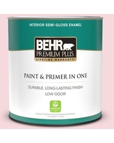 Shopping Special For Behr Premium Plus 5 Gal 140a 2 Coy Pink Eggshell Enamel Low Odor Interior Paint And Primer In One