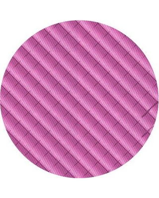 East Urban Home Wool Pink Area Rug X113648360 Rug Size: Round 4'