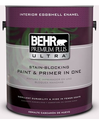 BEHR ULTRA 1 gal. #680C-1 Wispy Pink Eggshell Enamel Interior Paint and Primer in One