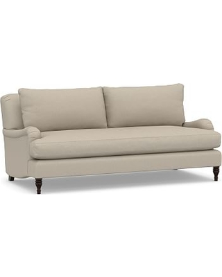 "Carlisle Upholstered Sofa 82"" with Bench Cushion, Polyester Wrapped Cushions, Brushed Crossweave Natural"