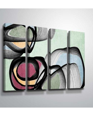 """Orren Ellis 'Vibrant Colorful Abstract VIII' Rectangle Graphic Art Print Multi-Piece Image on Canvas ORNE5594 Size: 36"""" H x 48"""" W x 2"""" D Format: Wrapped Canvas"""