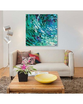 """East Urban Home 'GM 063' By Iris Scott Abstracts Graphic Art Print on Canvas EUME1746 Size: 18"""" H x 18"""" W x 0.75"""" D"""