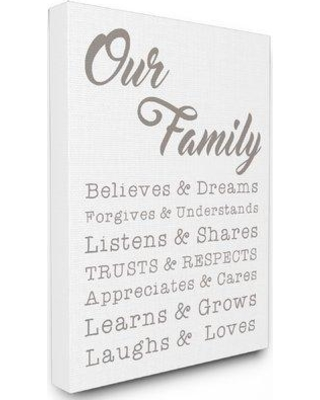 """Stupell Industries Our Family Laughs and Loves Textual Art mwp-298_cn_16x20 Size: 30"""" H x 24"""" W Format: Canvas"""