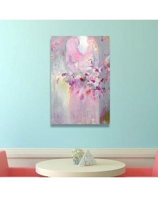 """House of Hampton® Marry Me by Michaela Nessim - Painting Print on Canvas, Canvas & Fabric in Pink/White, Size 15"""" H x 10"""" W x 1.5"""" D   Wayfair"""