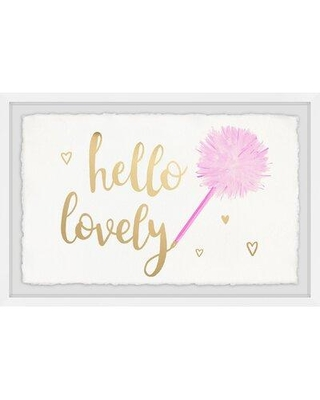 "House of Hampton® 'Hello Lovely' Framed Textual Art, Paper, Size 24"" H x 36"" W 