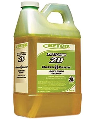 Betco BET5364700 Green Earth Concentrated Daily Floor Cleaner, Yellow, 2 Liters - 1 Case (4 Units)