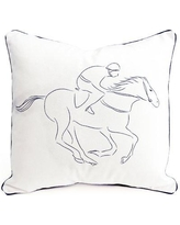 Pemberley Rose Racehorse Cotton Pillow Cover PRTPC16-LC-NT01