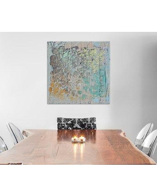 "East Urban Home Raw Texture II Painting Print on Wrapped Canvas ESHM9120 Size: 12"" H x 12"" W x 1.5"" D"