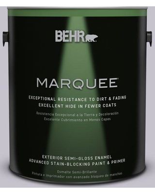 BEHR MARQUEE 1 gal. #N560-1 Posture and Pose Semi-Gloss Enamel Exterior Paint and Primer in One