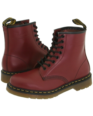Dr. Martens 1460 (Cherry Red Smooth) Lace-up Boots
