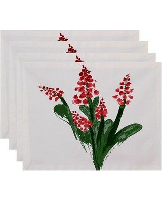 "Gracie Oaks Laymon Bluebell 18"" Placemat GRCS4273 Color: Red"