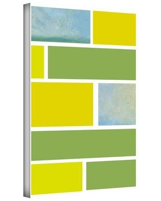"""ArtWall 'Paint Swatches I' by Jan Weiss Print of Painting on Wrapped Canvas janw-044 Size: 24"""" H x 16"""" W"""