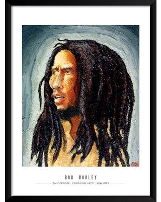 "Artography Limited 'Bob Marley' Framed Drawing Print Poster BI033094 Size: 25"" H x 19"" W x 1.25"" D"