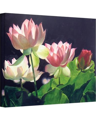 """ArtWall Andrea'S Lilies by Marina Petro Painting Print on Wrapped Canvas 0pet001 Size: 18"""" H x 24"""" W"""