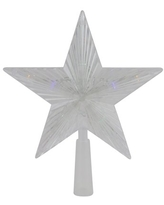 """10"""" Clear Crystal Star LED Christmas Tree Topper - Multi Lights"""