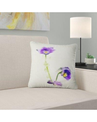 """East Urban Home Floral Liverleaf Flower Watercolor Pillow FUSI4905 Size: 18"""" x 18"""" Product Type: Throw Pillow"""