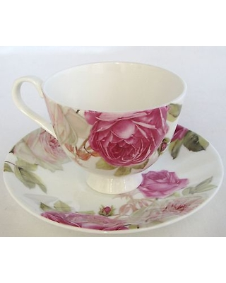 NEW STECHCOL GRACIE BONE CHINA ROSE FLOWER TEA+COFFEE MUGCUP+SAUCER  sc 1 st  Better Homes and Gardens & Deals on NEW STECHCOL GRACIE BONE CHINA ROSE FLOWER TEA+COFFEE MUG ...