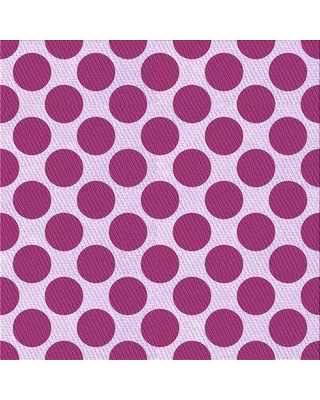East Urban Home Kornegay Polka Dots Wool Purple Area Rug X111685766 Rug Size: Square 3'