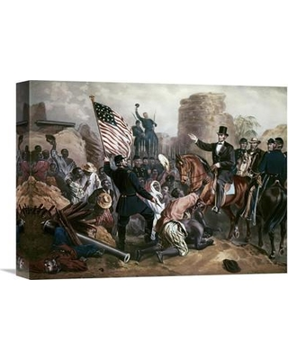 """Global Gallery 'Lincoln in City Point Virginia' by Gustav Bartsch Painting Print on Wrapped Canvas GCS-276678 Size: 16.74"""" H x 22"""" W x 1.5"""" D"""