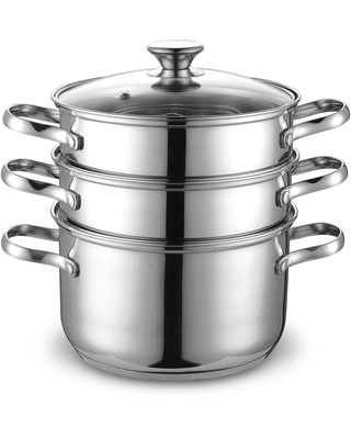 Cook N Home Stainless Steel Double Boiler/ Steamer Set 4-quart (4-PC set steam and double boiler set)