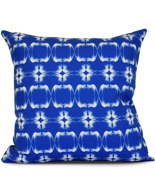 Simply Daisy, Summer Picnic, Geometric Print Outdoor Pillow