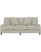 Bedford Sofa with Standard Cushion, Faux Suede, Solid, Stone