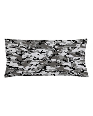 """Camo Indoor / Outdoor Camouflage Lumbar Pillow Cover East Urban Home Size: 16"""" x 36"""""""