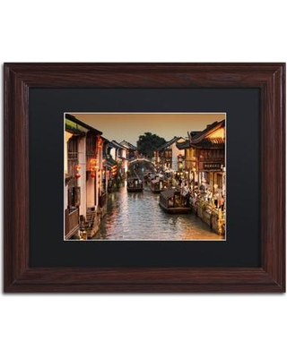 """Trademark Art """"Water Town"""" by Philippe Hugonnard Framed Photographic Print PH0434-W1 Matte Color: Black Size: 16"""" H x 20"""" W x 0.5"""" D"""