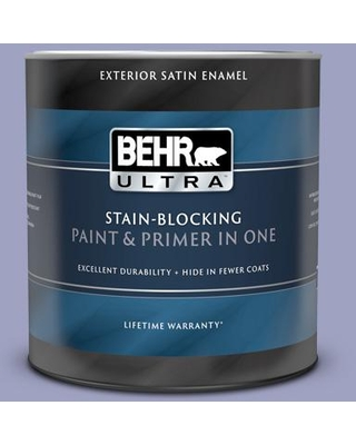 BEHR ULTRA 1 qt. #630D-4 Ruffled Iris Satin Enamel Exterior Paint and Primer in One