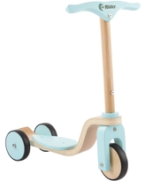 Kids Wooden Scooter-Beginner Push Steering Handlebar, 3 Wheel, Kick Scooter by Lil' Rider