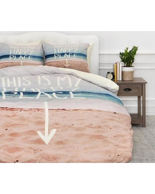 East Urban Home Happy Place X Beach Duvet Cover Set EUNH5498 Size: Twin/Twin XL