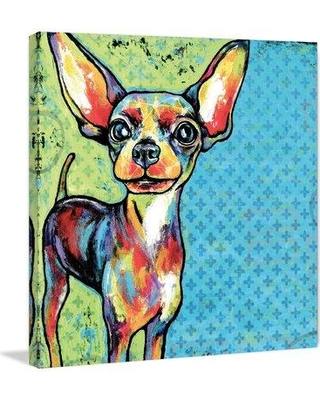 """Marmont Hill 'Chihuahua Pop Art' by Stephanie Gerace Painting Print on Wrapped Canvas MH-STGRC-01-C- Size: 48"""" H x 48"""" W"""