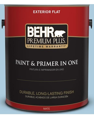 BEHR Premium Plus 1 gal. #M500-2 Early September Flat Exterior Paint and Primer in One