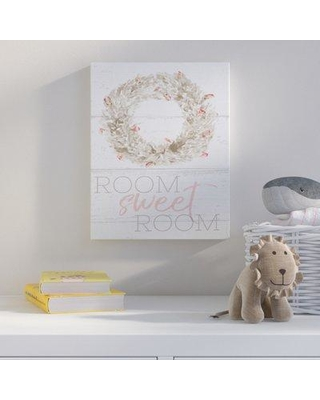 Harriet Bee 'Room Sweet Room Boxwood Watercolor Wreath' Wall Art HBEE6992 Format: Canvas Size: 20'' H x 16'' W