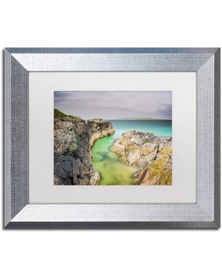 """Trademark Fine Art """"Turn to Blue"""" Canvas Art by Michael Blanchette Photography White Matte, Silver Frame"""