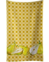 August Grove Pears on Basketweave Dishcloth AGGR6608