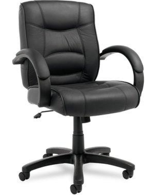 Alera® Strada Series Executive Chair ALESR42LS Upholstery: Black Leather