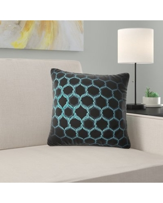 """Abstract Honeycomb Fractal Hex Pixel Pillow East Urban Home Size: 16"""" x 16"""", Product Type: Throw Pillow"""