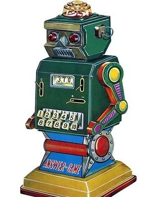 Buyenlarge 'Answer Game Robot' Vintage Advertisement 0-587-25061-5
