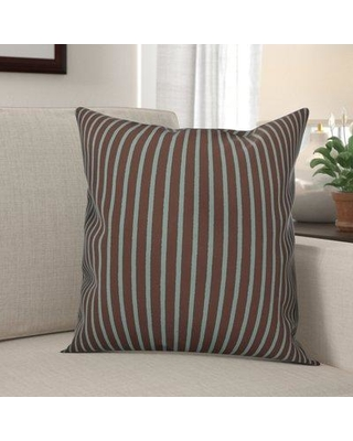 "Winston Porter Mathes Stripes Throw Pillow BF180118 Size: 20"" x 20"" Color: Brown Location: Indoor"