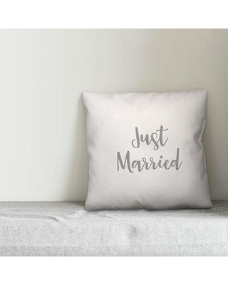 Great Prices For Ebern Designs Antwerp Just Married Throw Pillow X112144546 Color White Product Type Pillow Cover