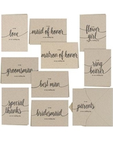 Le Prise Kraft Wedding Party Thank You Card X111273199