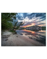 Don T Miss Deals On Design Art Rock Blue River Panorama Photographic Print On Wrapped Canvas Canvas Fabric In Brown Blue Size 20 H X 40 W X 1 D Wayfair